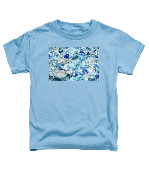 Broken Glass Blue Toddler T-Shirt