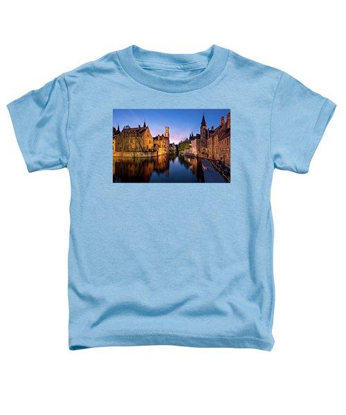 Bruges Canals At Blue Hour Toddler T-Shirt