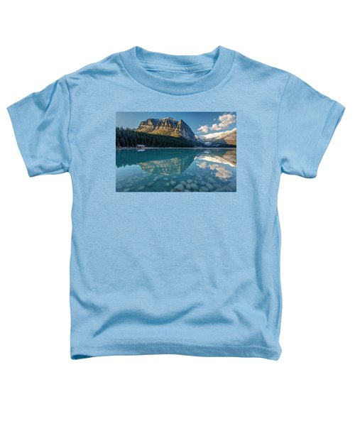 Calm Lake Louise Reflection Toddler T-Shirt