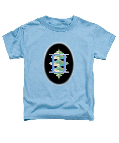 Cameo Abstract In Aqua Toddler T-Shirt