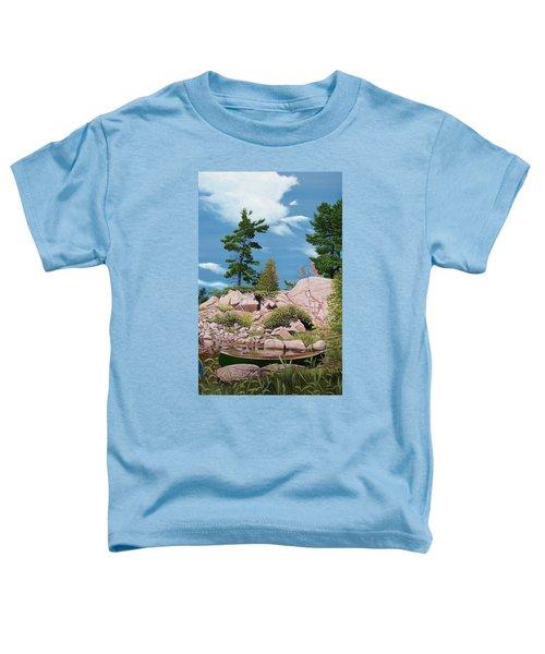 Canoe Among The Rocks Toddler T-Shirt