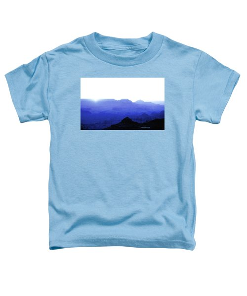 Canyon In Blue Toddler T-Shirt