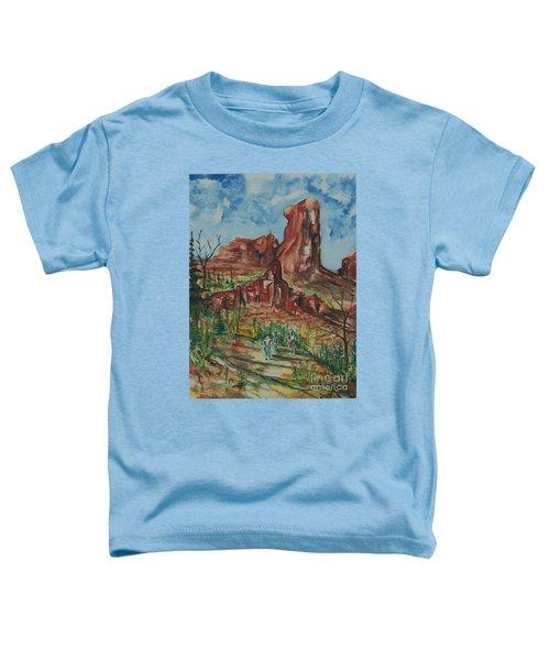 Hiking Cathedral Rock,  Sedona, Az. Toddler T-Shirt