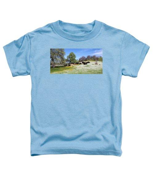 Cattle N Flowers Toddler T-Shirt