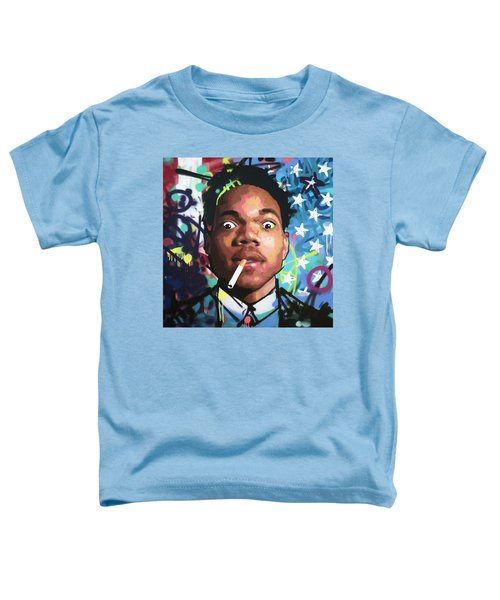 Chance The Rapper Toddler T-Shirt by Richard Day