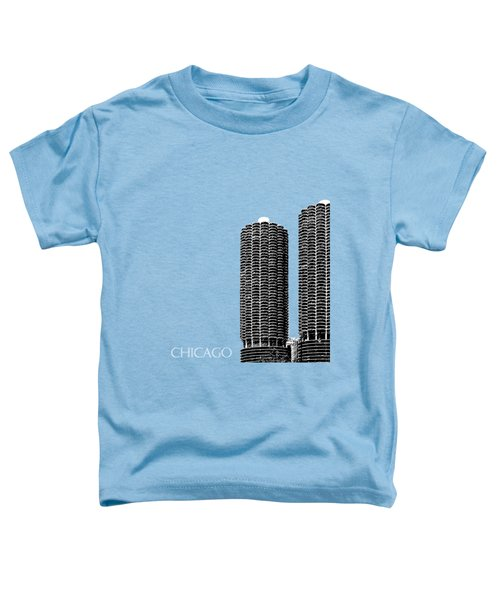 Chicago Skyline Marina Towers - Teal Toddler T-Shirt