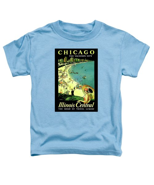 Chicago, Vacation City, Areal View On The Beach Toddler T-Shirt