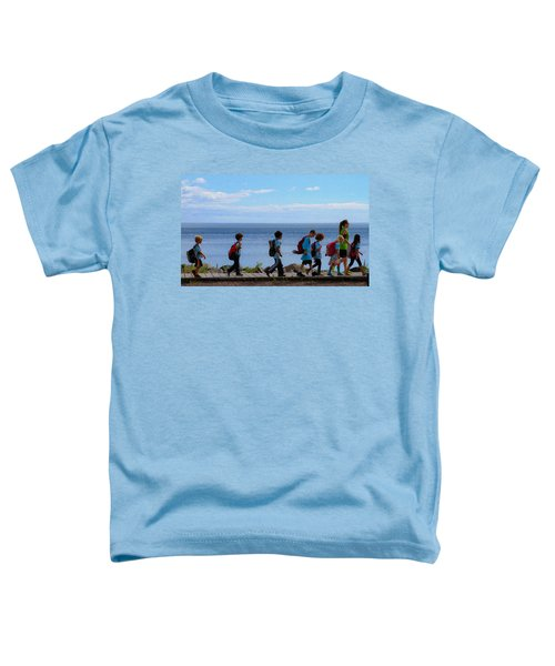 Children On Lake Walk Toddler T-Shirt