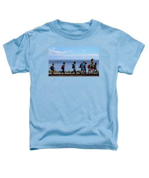 Children On Lake Walk Toddler T-Shirt
