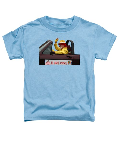 Christmas Parade Clown In Car Toddler T-Shirt