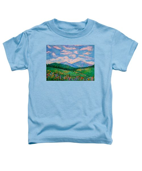 Cloud Swirl Over The Peaks Of Otter Toddler T-Shirt