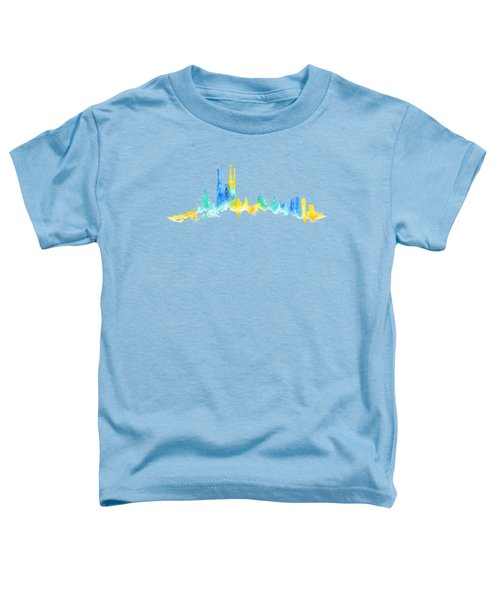 Color Barcelona Skyline 02 Toddler T-Shirt by Aloke Creative Store