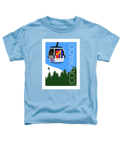 Colorado Ski Country Blue Toddler T-Shirt