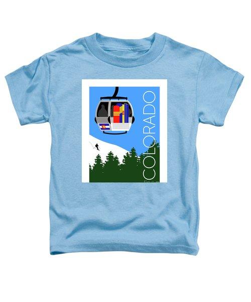 Colorado Ski Country Blue Toddler T-Shirt