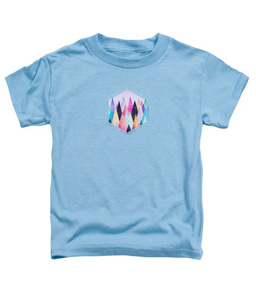 Colorful Abstract Geometric Triangle Peak Woods  Toddler T-Shirt