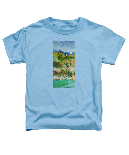 Colorful Forest On Cliffs Near The Sea In Dartmouth Devon Toddler T-Shirt