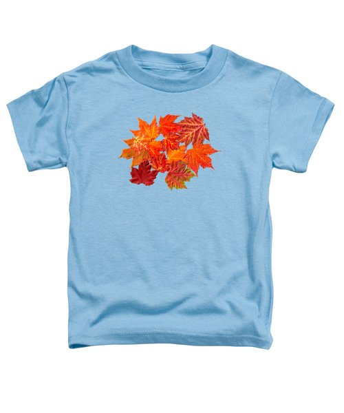 Colorful Maple Leaves Toddler T-Shirt by Christina Rollo
