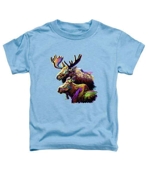 Colorful Moose Toddler T-Shirt by Anthony Mwangi