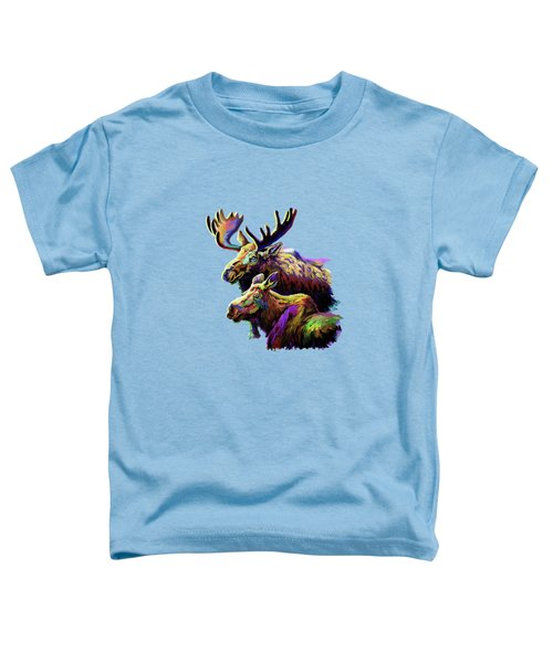 Colorful Moose Toddler T-Shirt