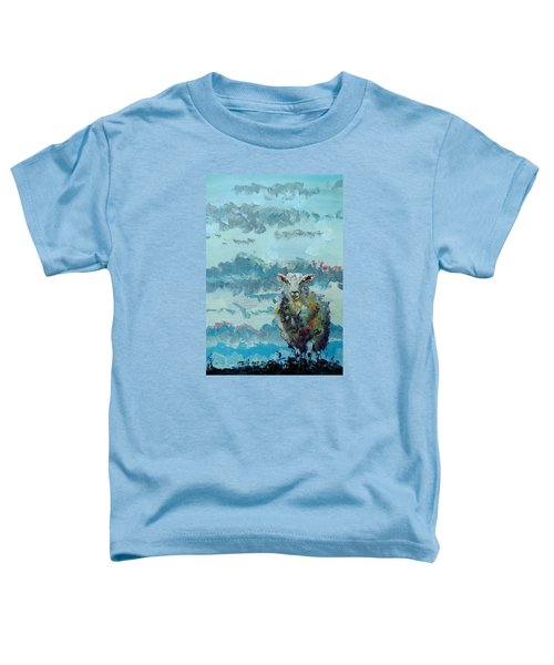 Colorful Sheep Art - Out Of The Stormy Sky Toddler T-Shirt