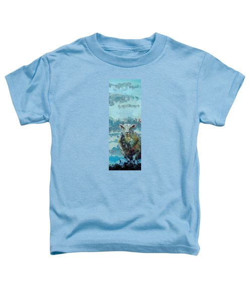 Colorful Sky And Sheep - Narrow Painting Toddler T-Shirt