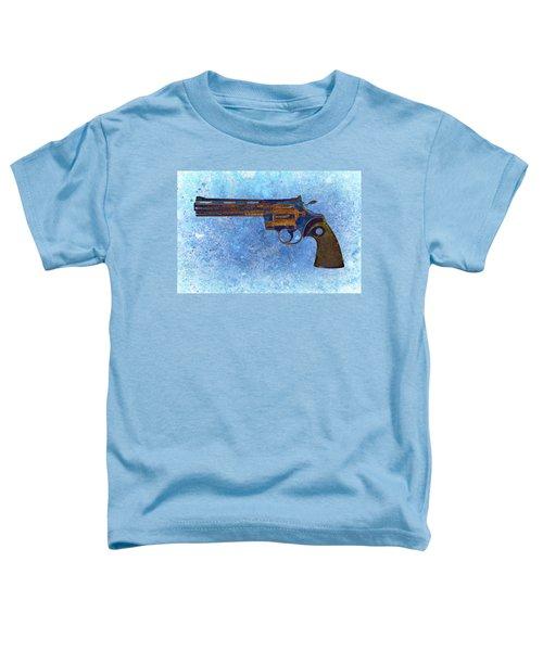 Colt Python 357 Mag On Blue Background. Toddler T-Shirt