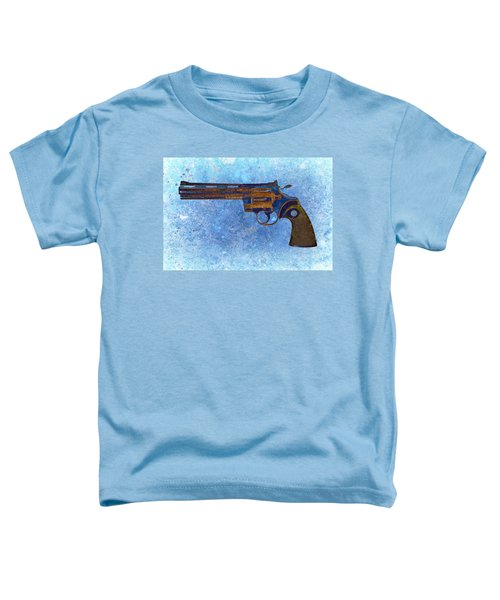 Colt Python 357 Mag On Blue Background. Toddler T-Shirt