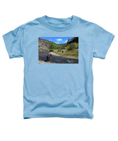 Crossing The Gila On Horseback Toddler T-Shirt