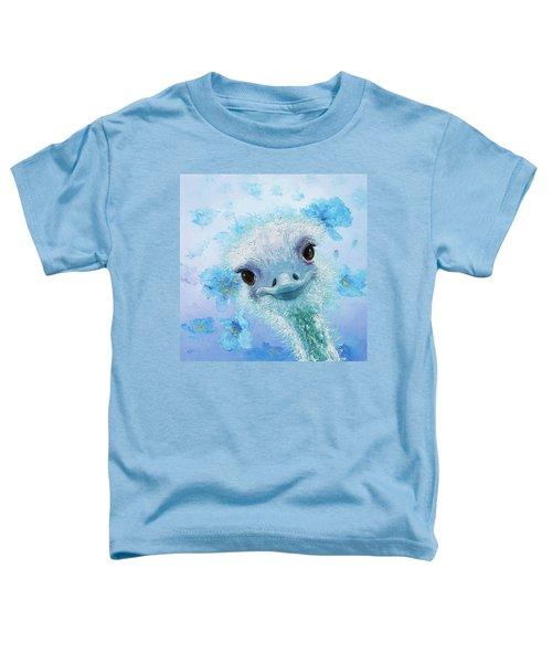 Curious Ostrich Toddler T-Shirt by Jan Matson