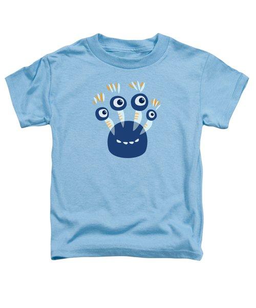 Cute Blue Four Eyed Monster Toddler T-Shirt