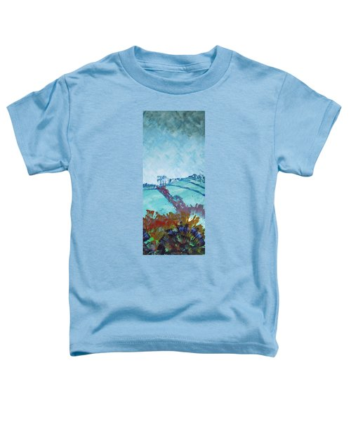 Devon Landscape Painting - Hills Near Exeter Toddler T-Shirt