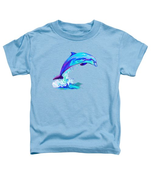 Dolphin In Colors Toddler T-Shirt by A