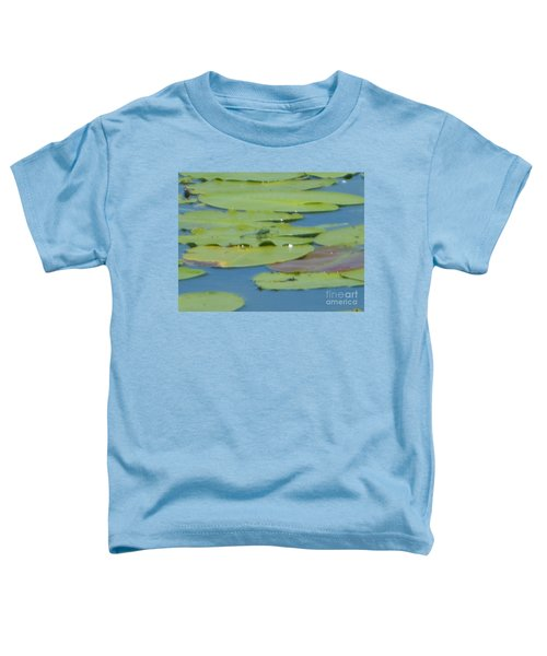 Dragonfly On Lily Pad Toddler T-Shirt