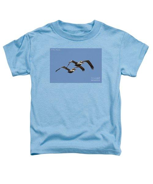 Duel Pelicans In Flight Toddler T-Shirt