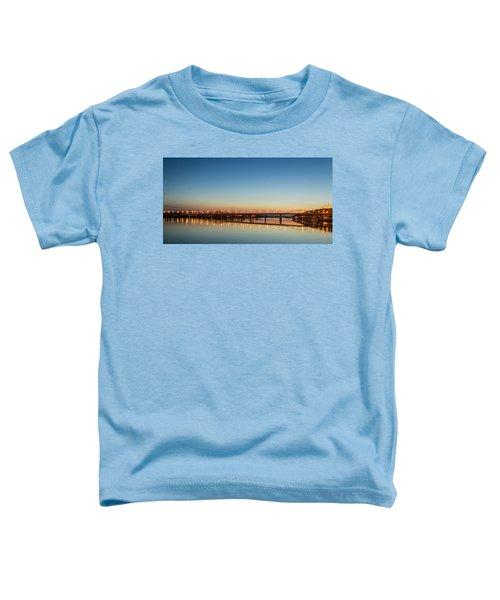 Early Evening Bridge At Sunset Toddler T-Shirt