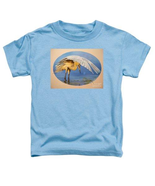 Chloe The  Flying Lamb Productions                  Egret Fishing Toddler T-Shirt