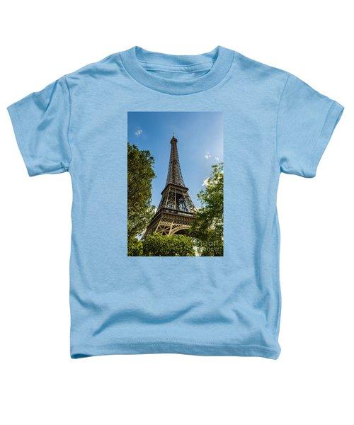 Eiffel Tower Through Trees Toddler T-Shirt