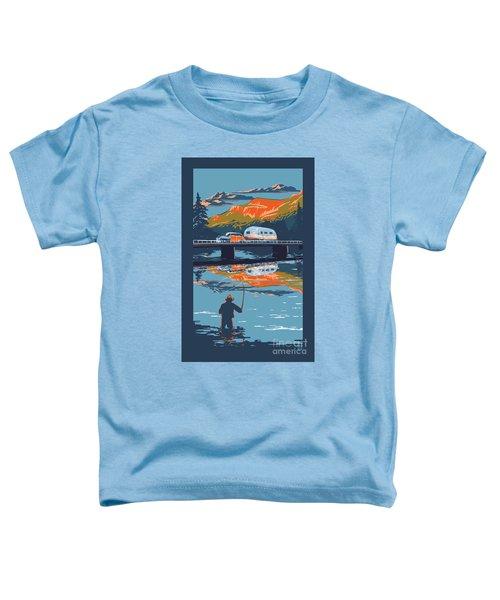 Enderby Cliffs Retro Airstream Toddler T-Shirt