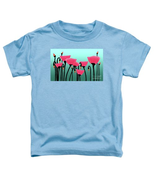 Expressive Red Pink Green Poppy Painting Y1a Toddler T-Shirt