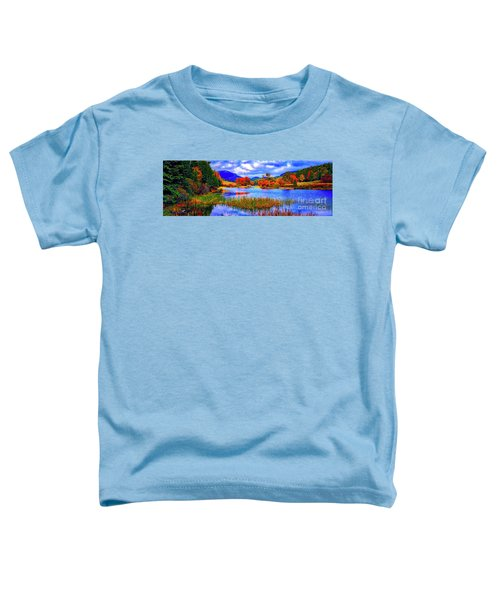 Fall On Long Pond Acadia National Park Maine  Toddler T-Shirt