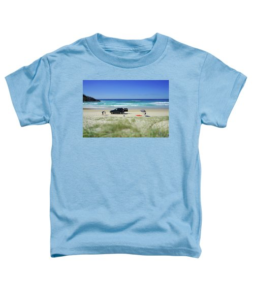 Family Day On Beach With 4wd Car  Toddler T-Shirt