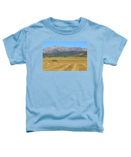 Farming In The Highlands Toddler T-Shirt by David Chandler