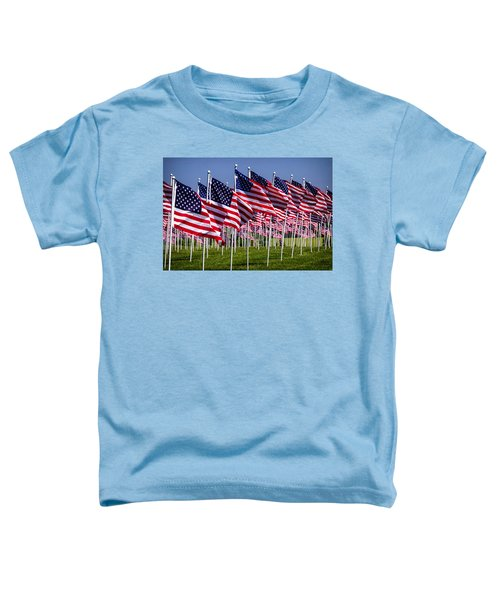 Field Of Flags For Heroes Toddler T-Shirt