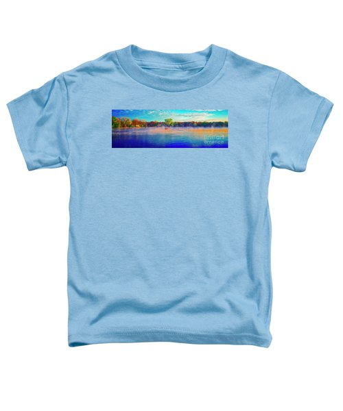 Fishing On Crystal Lake, Il., Sport, Fall Toddler T-Shirt