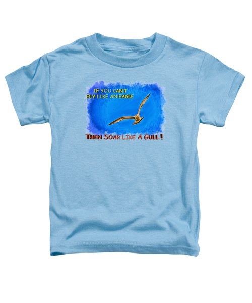 Flying Gull Toddler T-Shirt by John M Bailey