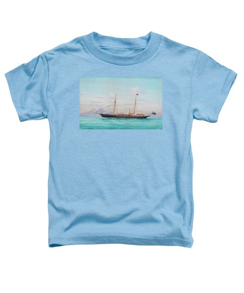 Four Views Of The Steam Yacht Yatra Toddler T-Shirt