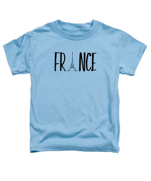 France Typography Panoramic Toddler T-Shirt