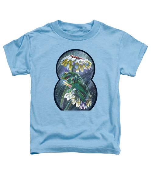 Frogs- Optimized For Shirts And Bags Toddler T-Shirt by Michael Volpicelli