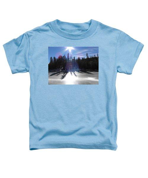 Sun Reflecting Kiddie Pond Divide Co Toddler T-Shirt