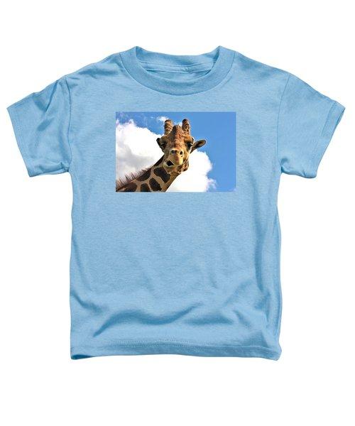 Funny Face Giraffe Toddler T-Shirt
